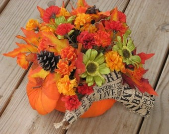 Large Fall Centerpiece Crate Full Of Fall Silk By TheVineDesigns