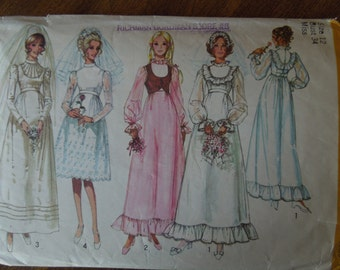 Simplicity 9608, size 12, sewing pattern, craft supplies, bride, bridesmaids, wedding gown, evening wear