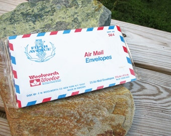 Vintage Air Mail Correo Aereo Par Avion and Via Air Mail Envelopes
