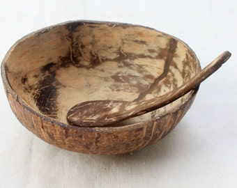 Coconut bowl,coconut shell   with spoon