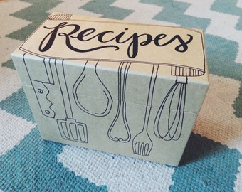 recipe box (standard utensils)