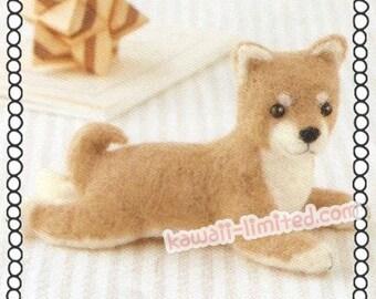 DIY Wool felt needle felting Kit - Dog - Shiba Inu Japanese Hamanaka H441-424