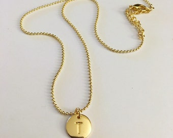 T Initial Personalized Necklace