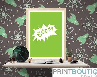 Boom Art Print - Printable PDF file - DIY