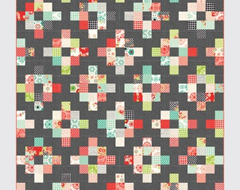 """Cakewalk by Camille Roskelley for Thimble Blossoms, measures 63"""" x 69"""""""