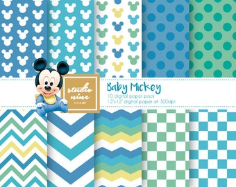 Baby Mickey Mouse Digital Paper