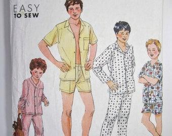 Simplicity 9952 Teen Boys Pajamas Sewing Pattern Sizes 14 - 20 Uncut