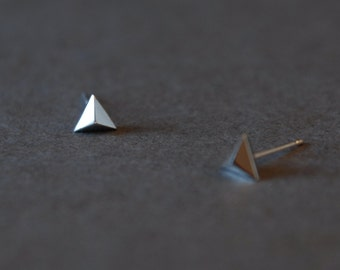 "Triangle Earring Type B ""SILVER "" Sterling Silver"