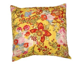 Cushion Cover - SMALL YELLOW FLOWER