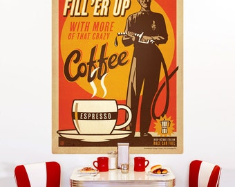 Coffee Fill Er Up Roadside Wall Decal - #55494