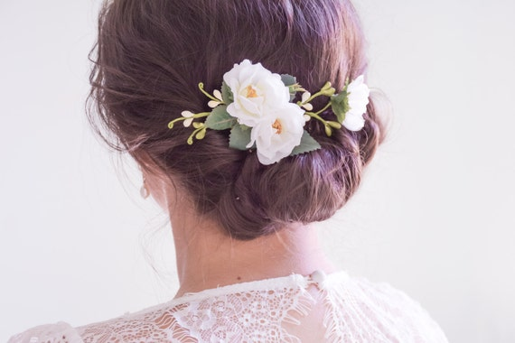 hair wedding styles with flowers wedding hair clip bridal headpiece white flower hair clip 9028