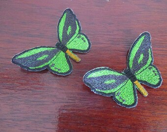 Birdwing butterfly, sew on appliques