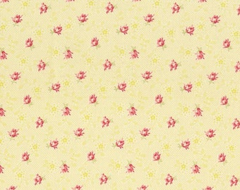 RJR Fabrics Bon Bon Bebe 2245 03 Small Floral On Yellow By Robyn Pandolph