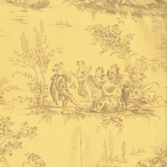 Rjr fabrics jardin gris floral 2732 01 toile yellow yardage by for Toile tendue jardin