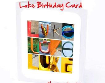 Luke Personalised Birthday Card
