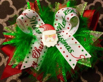 Christmas Candy Cane Bow
