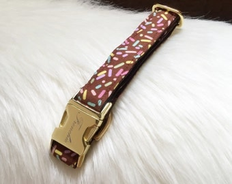"Adjustable dog collar ""Sprinkles"""
