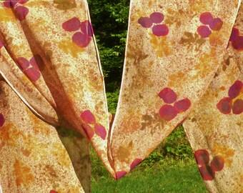 Silk Chiffon Scarf Hand Painted Silk Scarf