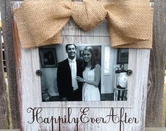 Happily Ever After Whitewashed Frame