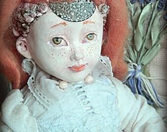 Art doll OOAK Toys Retro White Glasha