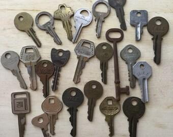Vintage Key Collection Argentina Antique