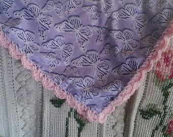 Crochet edging blanket scarf