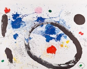 JOAN MIRO - 'The ring of twighlight' - vintage offset lithograph - c1963 (Mourlot/Maeght/DLM, Paris)