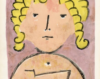 PAUL KLEE - 'Tete d'enfant' - limited edition original lithograph - c1939 (Mourlot/Teriade/Verve, Paris)