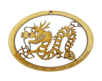 Year of the Dragon Ornament - Chinese Zodiac Ornament - Zodiac Sign Ornament - Chinese Astrology Ornament - Zodiac Gift - Chinese New Year