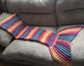 PATTERN - 3 Sizes Toddler - Adult - Mermaid tail blanket