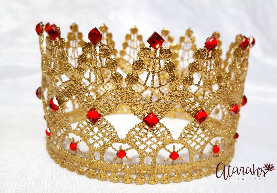 how to make a crown out of lace