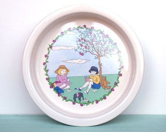 Vintage child's bowl, baby bowl, baby dish by Laura Ashley Playtime from the 1980s