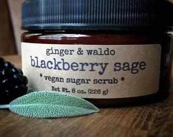 Blackberry Sage Vegan Sugar Scrub - Blackberry Sage - Blackberry Scrub - Vegan Scrub - Sugar Scrub - Body Polish