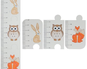 Woodland Growth Chart - Kids Height Chart - Wooden Height Chart - Metric or Imperial Measurement Growth Chart