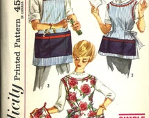 Simplicity 3206    Misses and Mens Apron and Pot Holder     Sizes sm (10-12)