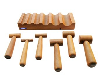 Wood U-channel Dapping Forming Block & Hammer Punches Jewelry Metal Shaping Tool Wa 412-435