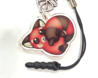 Red Panda Phone Charm