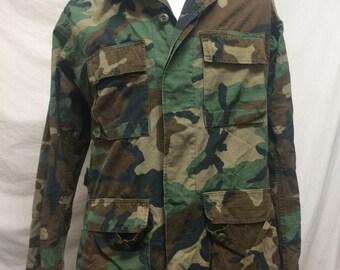 Military jacket,green camo shirt, medium long,green,camouflage coat