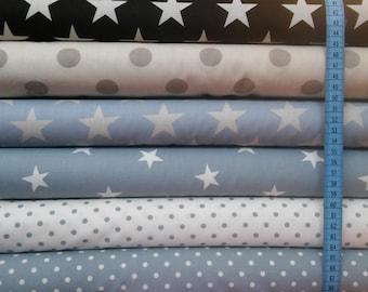 Star dot patchwork cotton fabric 1/2 yard