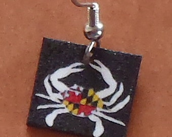 Maryland Crab Earrings