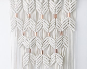 Boho Chic Macramé Hanging with Real Copper Accents