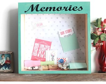 Memory Shadow Box - Home Decor - Memory Box Gift - Picture Frame - Wooden Memory Box - Time Capsule - Wedding Memory Box - Baby Memory Box