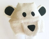 Polar Bear Hooded Towel Gifts for Toddlers Gender Neutral Baby Gift Hooded Baby Towel Personalized Baby Gift Kids Towels
