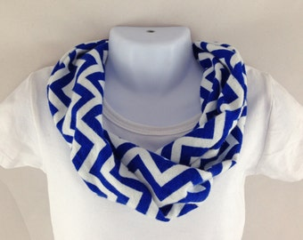 Baby Infinity Scarf - Baby Clothes - Toddler Fashion - Kids Infinity Scarf - Baby Gift Ideas - Baby Accessories - Blue Chevron