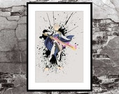 Corrin Fire Emblem Fates Splatter - Video Game Inspired - Video Game Art Poster