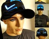 Light Up Cap LED Hat - E2 Robot Cap Rave Snapback Glow Hat for Dancer DJ Party Costume Edm Scifi Future Futuristic Hat Halloween Head Wear