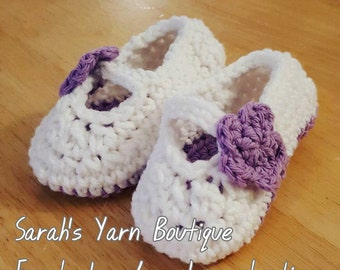 Mary Jane Baby Girl Crochet Shoes