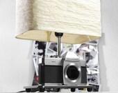 Vintage Camera Lamp made with mamiya Sekor 500TL slr - Vintage cameras - vintage lamp - deco