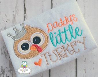 Daddy's Little Turkey Thanksgiving Shirt, Girl Thanksgiving, Girl Turkey Shirt, Thanksgiving Shirt