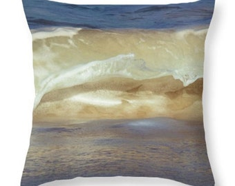 Ocean Waves Throw Pillow Cover. Nature Accent Pillow Outdoor Throw Pillow Indoor Pillow Beach Home Decor Nature Abstract Pillow Cover